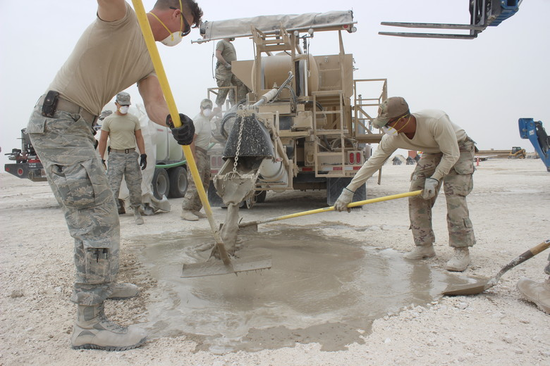 Finishing of concrete work