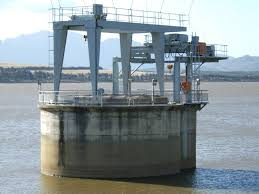 Pier in Headworks in surface irrigation system