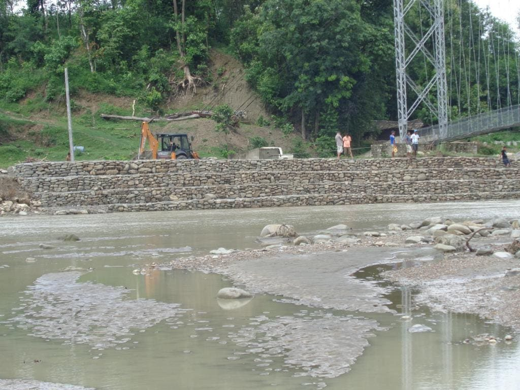 Gabbion wall- solutions to flooding