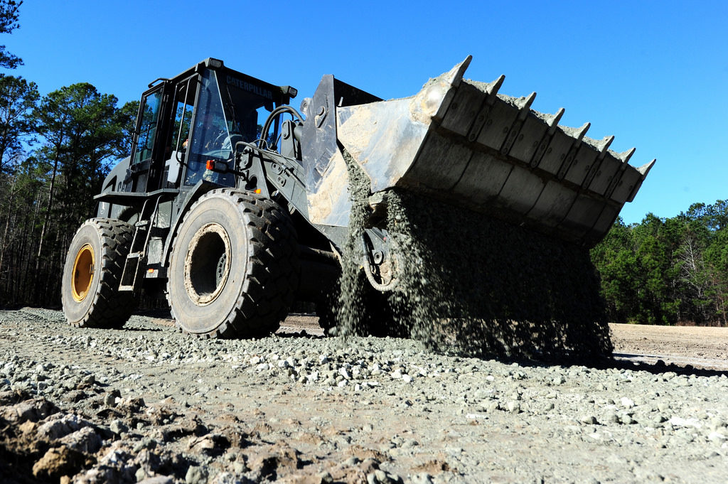 Unloading of Gravel on the site