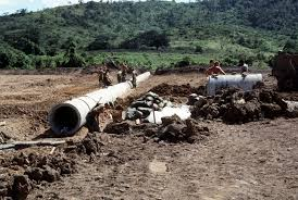 Excavation and Laying of pipe