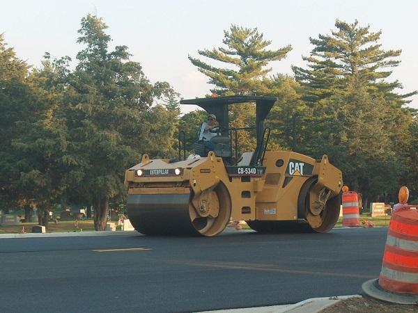 Roller for Bituminous road construction