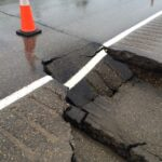 A failure in Flexible pavement due to failure of subgrade