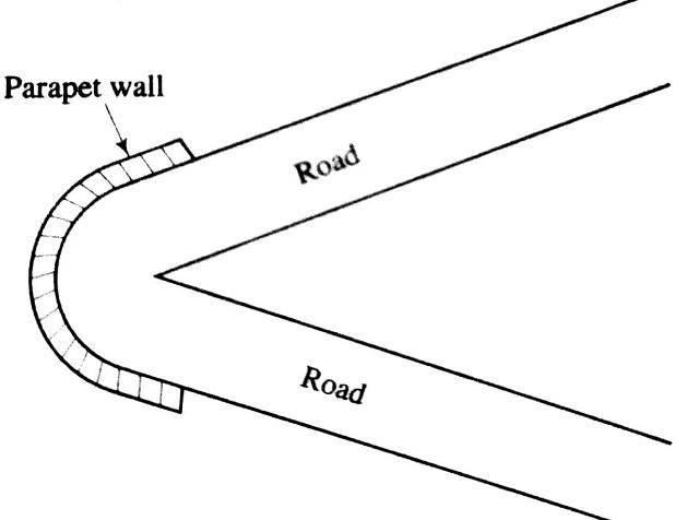 Corner bend used in Hill road design
