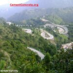 Hill road with many bends and structures ( eg. BP Highway Nepal)