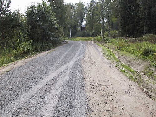 Repair and maintenance of earthen road