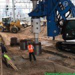 Concrete Pour for Piles